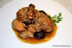 La cuina de sempre: Rostit de Nadal (Pollastre amb prunes i pinyons)