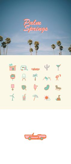 Palm Springs Icon Set