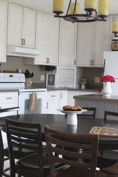 Budget friendly kitchen updates beadboard wallpaper...pretty cool!