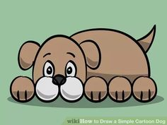 Draw a Simple Cartoon Dog - Help with Drawing - Kleinkind Cartoon Dog Drawing, Cartoon Drawing For Kids, Cartoon Drawings Of Animals, Bear Cartoon, Drawing Animals, Cartoon Images, Drawings To Trace, Easy Drawings, Dog Drawings