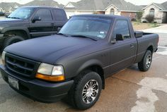 Plasti Dipped Ford Ranger. The results are amazing!
