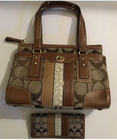 25cd0253a2 Shop Women s Coach Brown Tan size 12 X 8 X 4 Satchels at a discounted price  at Poshmark. Description  Coach bag and matching wallet.