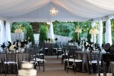 Tented reception at The Mansion at Maple Heights, Pittsburgh, PA