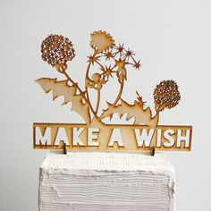 Make A Wish Birthday Cake Topper by ByMadelineTrait on Etsy, $40.00