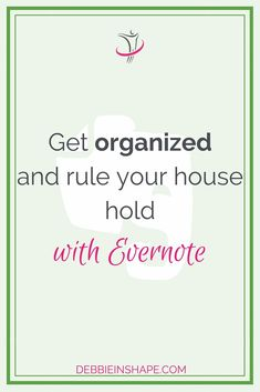 Get organized with Evernote using these 3 tips for household tasks. Let me show you how to get started. Digital Life, Digital Media, Evernote Template, Thats The Way, Blogger Tips, Design Quotes, Stress Management, Getting Organized, Need To Know