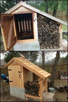 Build A Backyard Smoker . Build A Backyard Smoker . Smoke House Plans, Smoke House Diy, Backyard Smokers, Outdoor Smoker, Diy Smoker, Homemade Smoker, Backyard Projects, Outdoor Projects, Backyard Designs