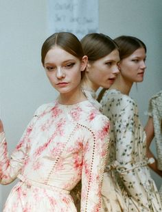 backstage at Valentino Haute Couture