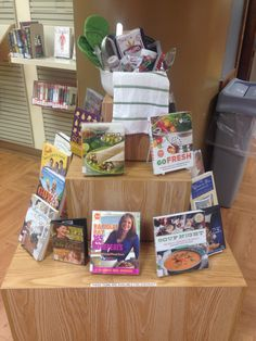 Food and cookbooks display (2015)