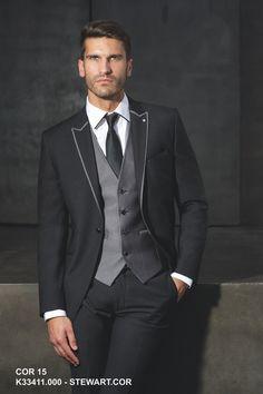 Terno de 2015 feito Slim Fit preto árabe um botão cerimônia de casamento personalizado noivo smoking dos padrinhos terno paletó +…