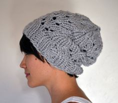 Chunky Knit Slouchy Beanie Toque PATTERN Fall by emilygreeneblue, $2.50