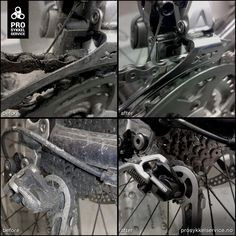 Some details and before and after of drivetrain service Before And After Pictures, Bike, Bicycle, Trial Bike, Bicycles