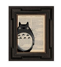 Totoro on bookpage - I think he's actually painted on the glass