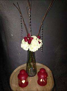 Hydrangea & Roses centerpiece