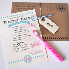 Personalised 'Tooth Fairy' Certificate