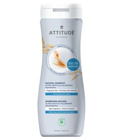 Buy ATTITUDE Shampoo for Sensitive Skin. EWG VERIFIED™ & Fragrance-free, it is enriched with oatmeal to soothe scalp, gently clean & add volume to fine hair Unscented Shampoo, Natural Showers, Endocrine Disruptors, Raspberry Ketones, Sensitive Skin Care, Jojoba, Vitis Vinifera, Natural Shampoo