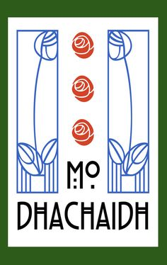 "Scottish Gaelic ""My Home"" in Charles Rennie Mackintosh style Change to Ar for our Charles Rennie Mackintosh Designs, Charles Mackintosh, Mackintosh Furniture, Jugendstil Design, Glasgow School Of Art, Art And Craft Design, Art Sculpture, Art Nouveau Design, Stained Glass Patterns"
