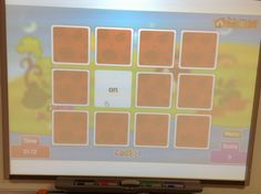 Build sight word fluency and memory skills on the Smartboard