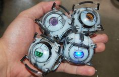 The Corrupted Cores from Portal 2, palm size!