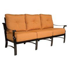 Woodard Bungalow Cushion Sofa, Silver