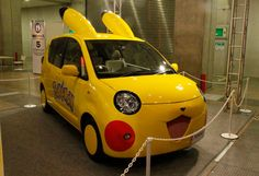 A Wild Reckless Driver Appears!: Toyota Pokemon Cars - This is a series of Pokemon character cars created by Toyota and Japanese toy maker Takara Tomy as some kind of weird-ass cross promotion. And speaking of cross promotions: hot sauce and extra-absorbent toilet paper. It just makes sense.
