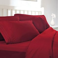 Clara Clark Supreme Sheet Set Color: Burgundy, Size: Full