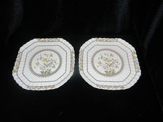 Vintage Spode Buttercup Square Luncheon Plate