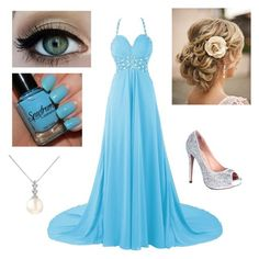 """le prom"" by pugsrool ❤ liked on Polyvore featuring Lauren Lorraine, Forzieri, women's clothing, women's fashion, women, female, woman, misses and juniors"