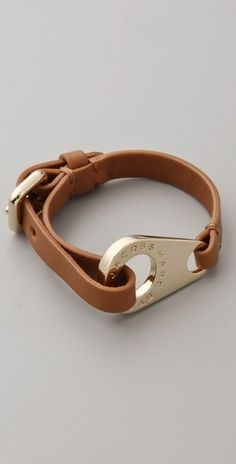 Marc by Marc Jacobs Zip Wrap Leather Bracelet - StyleSays
