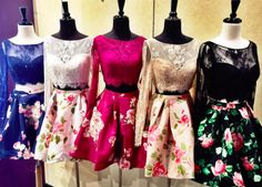 Two-piece Sherri Hill floral print dress. Lace and floral print dress. Lace two-piece dress. Cotillion Dresses, Hoco Dresses, Trendy Dresses, Satin Dresses, Elegant Dresses, Homecoming Dresses, Casual Dresses, Fashion Dresses, Dress Lace