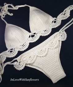 Badebekleidung bräunen Crochet bikini Crochet traje de baño bikinis Crochet beachwear Crochet traje de baño Boho bikini cadena bikini brasileño Source by gisa_miller crochet Crochet Bikini Top, Crochet Blouse, Knit Crochet, Crochet Shorts, Lace Bikini, Sexy Bikini, Crochet Pattern, Mode Du Bikini, Crochet Bathing Suits