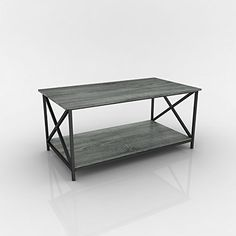 #helpinghand This contemporary coffee table has a beautiful weathered Grey Oak finish and x-design sides. The living space accent piece is ideal for use as a co...
