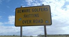 The Caught-Short Golfers. 47 Signs You'll Only See In Australia Funny Pix, Funny Cat Memes, Funny Stuff, Stupid Stuff, Random Stuff, Adventure Time Art, Cartoon Network Adventure Time, Australia Funny, Australia Travel