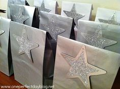 Out of this World Party : Silver star loot bags