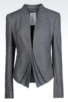 Dinner Jacket Donna Armani Collezioni - GIACCA IN LANA CASHMERE Armani Collezioni Official Online Store