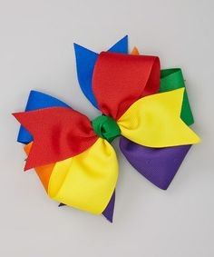 Take a look at this Red & Blue Primary Bow Clip by Fairy Bow Mother on #zulily today!