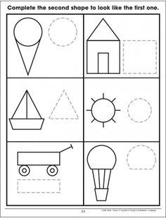 Shapes: Trace & Draw& (Fine Motor Skills) by Scholastic Oral Motor Activities, Preschool Activities, Dementia Activities, Physical Activities, Coding For Kids, Math For Kids, Art Drawings For Kids, Drawing For Kids, Kindergarten Drawing