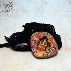 polymer jewelry - Martina Buriánová Polymer Clay Pendant, Polymer Clay Crafts, Polymer Clay Jewelry, Clay Design, Jewelry Art, Pendant Necklace, Jewels, Clay Ideas, Addiction
