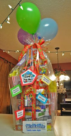 Family Game Night Raffle Basket