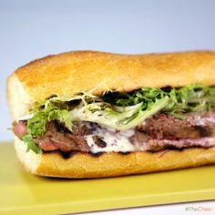 Grilled Steak & Fondue Sandwich by Mario Batali! #TheChew
