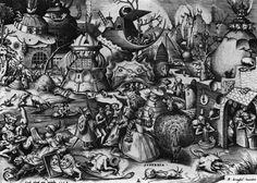 Питер Старший Брейгель -  Гордыня  (1556) - Открыть в полный размер