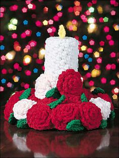 Ravelry: Candle & Rose Centerpiece pattern by Beverly Mewhorter