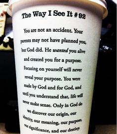 Love this. Kinda weird that it's on a coffee cup though.