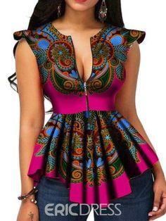 Modern Fashion Womens Tops Dashiki African Print Shirt - Dukaiko Fashion by laviye African Print Shirt, African Print Dresses, African Print Fashion, Africa Fashion, Modern African Dresses, Tribal Fashion, African Prints, African Fabric, African Fashion Designers