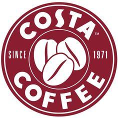 Costa Coffee logo image in png format. Size: 1000 x 1000 pixels. Coffee Shop Logo, Coffee Branding, Nitro Coffee, Costa Coffee, Circular Logo, Cafe Logo, 2 Logo, Famous Logos, Branding