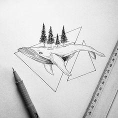 Geometric whele #art #illustrations #tattoos #pen #ink #drawing #geometric