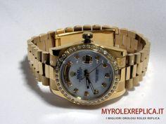 Rolex Day Date Replica Quadrante Bianco con Diamanti economico