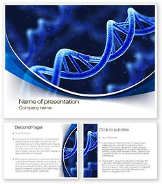 3D DNA PowerPoint template with 3D DNA PowerPoint background for presentations is ready for download. Draw your audience attention with this nice blue PowerPoint Template wich would be ideal for presentations on genetics, DNA research, DNA test, electron-microscope investigation, etc. http://www.poweredtemplate.com/10471/0/index.html