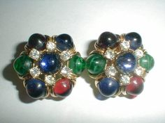 vintage ciner gp red green sapphire givre by fadedglitter42263, $180.00