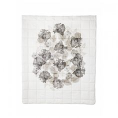 Floral Black Linen Bed Spread - Bonnie and Neil