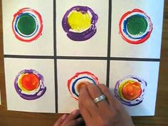 This is a great demonstration for printmaking and Kandinsky - this would be wonderful with any grade level